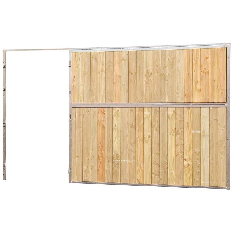 Fa ade de box pleine bois 2 5 m sans porte p1241301 for Porte pleine bois