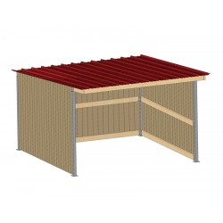 Abri de prairie simple pente SP 3x4 m