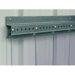 Barre de fixation pour rideau à lanières PVC