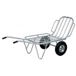 Brouette à fourrage 2 roues avec côtés rabattables