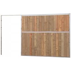 Façade de box pleine bois 2,5 m (sans porte)