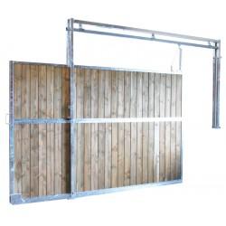 Séparation de box coulissante plein bois 3 m