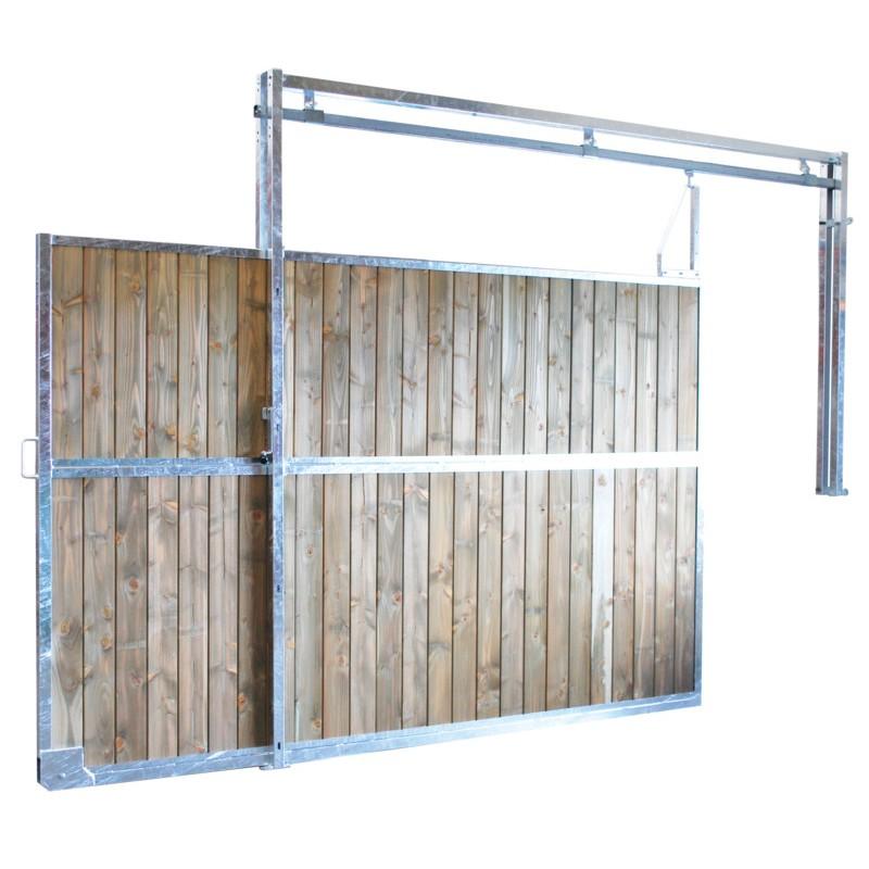 s paration de box coulissante plein bois 3 m p1251101. Black Bedroom Furniture Sets. Home Design Ideas