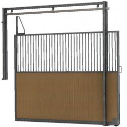 Séparation de box coulissante barraudée/bois 3 m