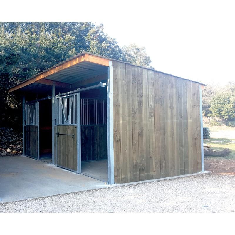 extension abri de prairie simple pente sp 3x3 m p1260119 la g e l quipement du cheval. Black Bedroom Furniture Sets. Home Design Ideas