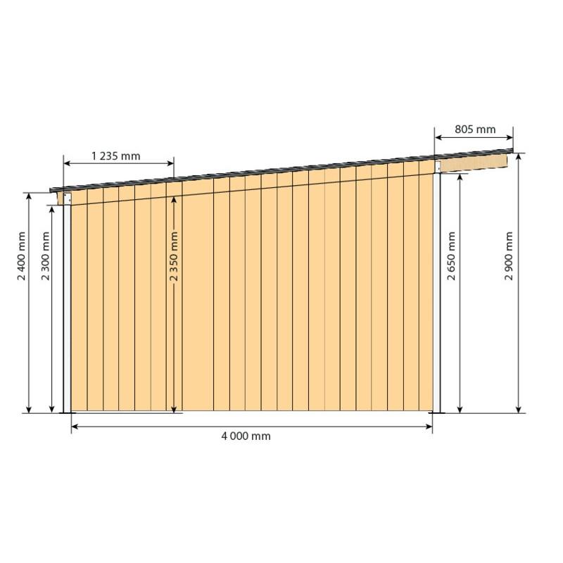 abri de prairie simple pente sp 4x4 m p1260146 la g e l quipement du cheval. Black Bedroom Furniture Sets. Home Design Ideas