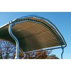 Protection de toit pour râtelier métallique