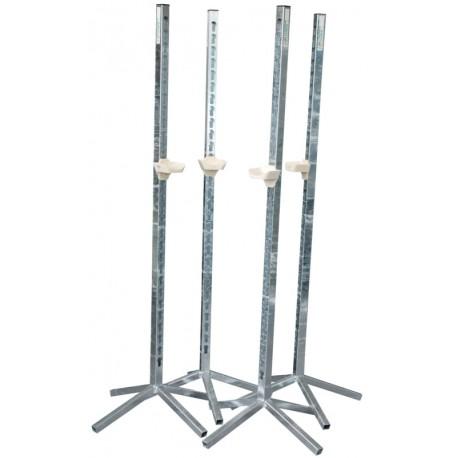 Pack de 4 chandeliers métalliques simples