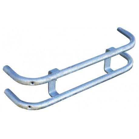 Protection d'attelage pour râtelier métallique