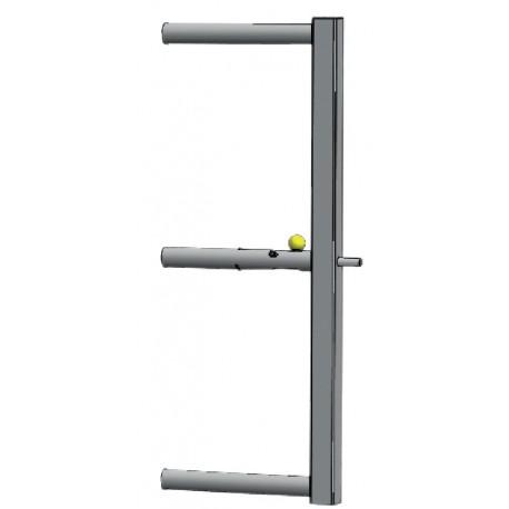 Panneau avant amovible avec verrou automatique pour barrière de stabulation