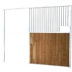 Façade de box barreaudée/bois L. 2,5 m (sans porte)