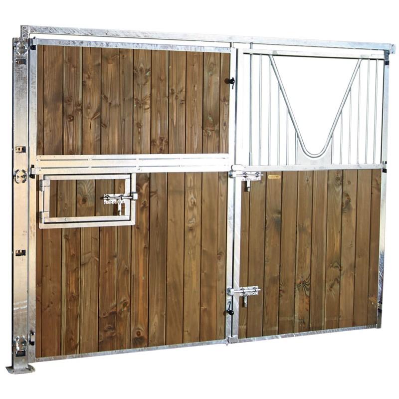 Fa ade ouvrante pleine bois 3 m avec porte battante col de for Facade de porte