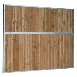 Séparation de box fixe pleine bois 0,5 m