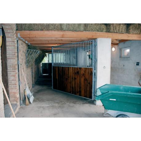 Séparation de box pivotante barreaudée/bois 2,5 m