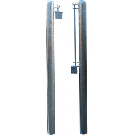 Poteaux avec fixation et système anti-effraction